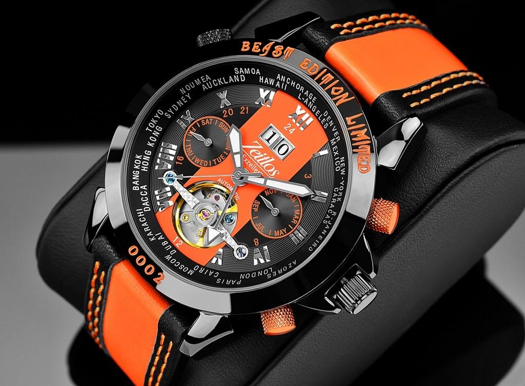 Zeitlos Exzellent Beast Limited Edition Orange Referenz Zl